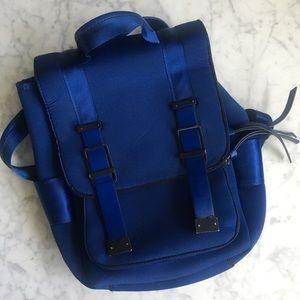 ZARA Blue Neoprene Backpack
